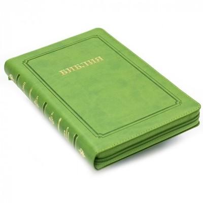 Библия 055 MZG (зеленый) ИЖ (Термовинил)