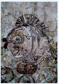 Картина Часы Рыба в рамке Служение Марфы