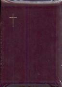 Библия УБО 045ZTI (бордовая, маленький крест) (Кожаный с замком)