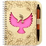 Набор блокнот/ручка деревянный (Медведев)